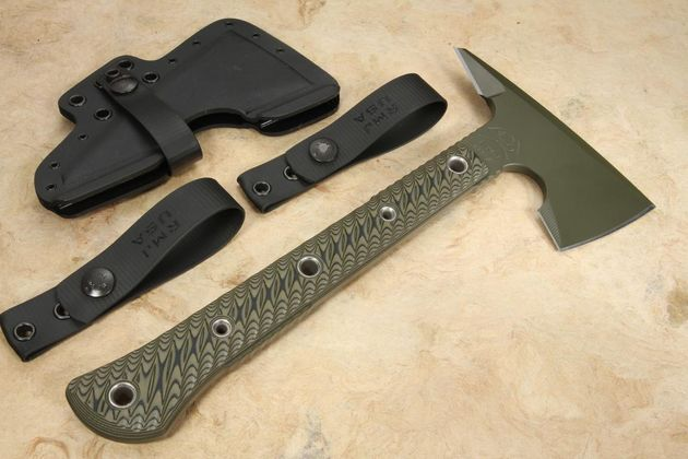 RMJ Tactical Jenny Wren Spike Tomahawk - OD Green - Dirty Olive