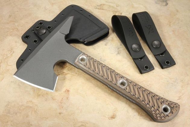 RMJ Tactical Mini Jenny Spike Tomahawk - Hyena Brown