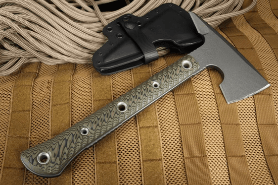 RMJ Tactical Jenny Wren Spike Tomahawk - Dirty Olive