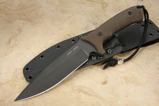 Spartan Harsey Difensa Black and Green - Kydex Sheath