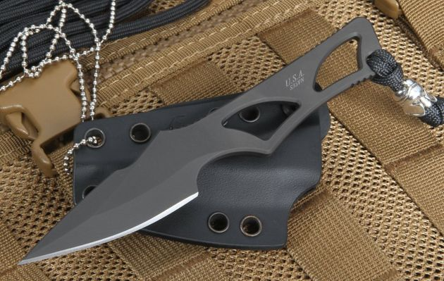 Spartan Blades Enyo - Black - Neck Knife Fixed Blade