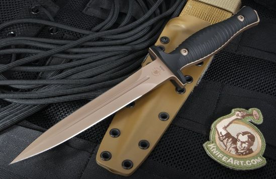 Spartan Blades Les George V14 Dagger - Flat Dark Earth and Black