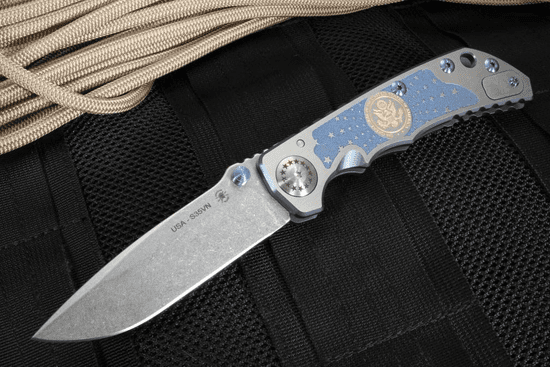 Spartan Blades Special Edition Harsey Folder - US Seal Engraved