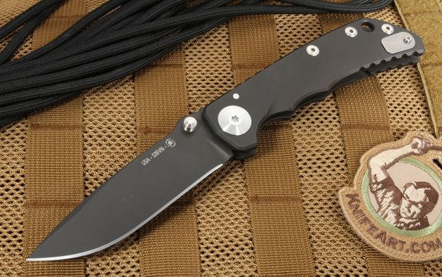 Spartan Harsey Folding Knife Black DLC Coated