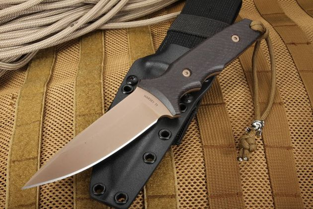 Spartan Blades TT - FDE and Black Harsey Design Fixed Blade