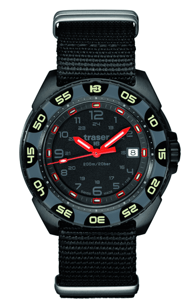 Traser Red Alert T100 Tritium Illuminated Tactical Watch
