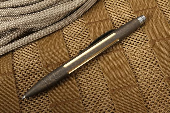 Tuff Writer Exclusive Concealment Edition GB Antiqued Brass Pen