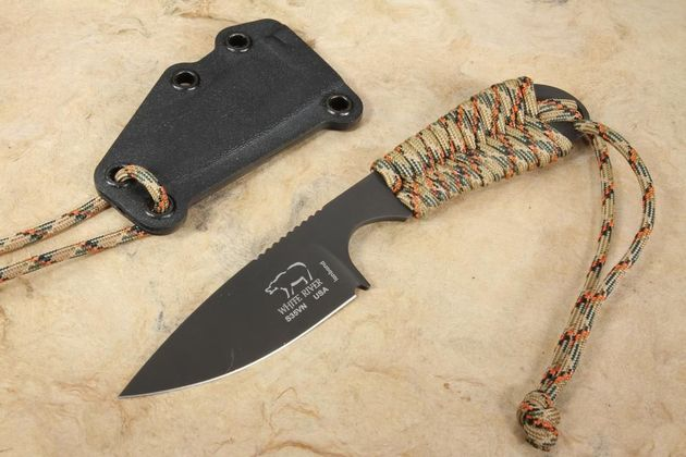 White River Backpacker - Treestand Camo Paracord - Black Ionbond