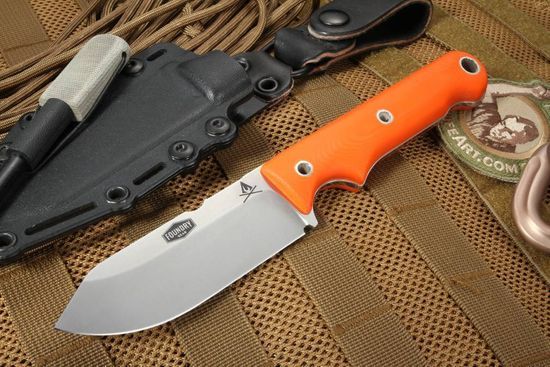 "White River Firecraft 4"" - 3V Steel - Orange G-10 Survival Knife"