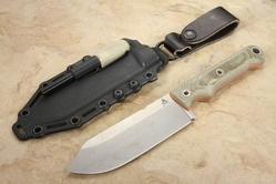 "White River Firecraft FC 5"" - S35VN Steel - Green Canvas Micarta Survival Knife"