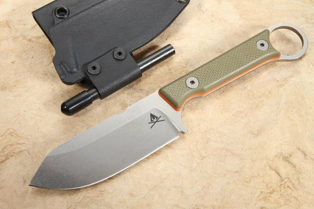 """White River Firecraft FC 3.5"""" Pro - Textured OD Green and Orange"""