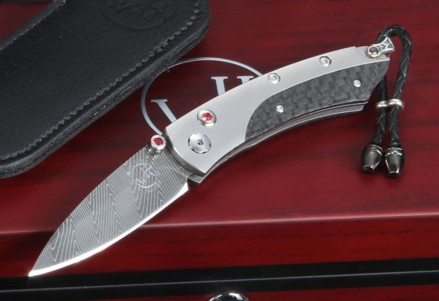 William Henry B04-Savile - Carbon Fiber and Damascus Folding Knife