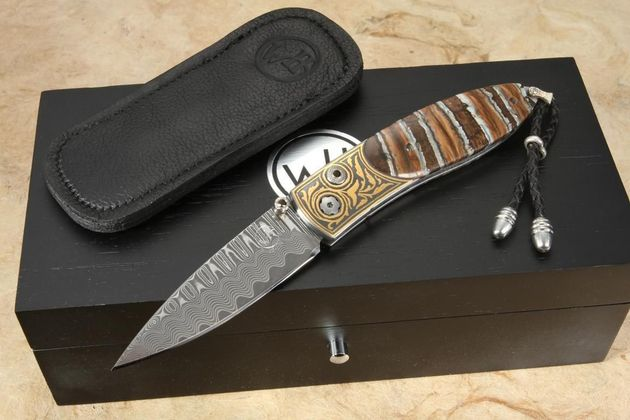 William Henry B05 Vintage - Gold & Mammoth Tooth Knife