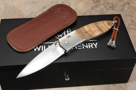 William Henry B05 Maui - Koa Wood Folding Knife