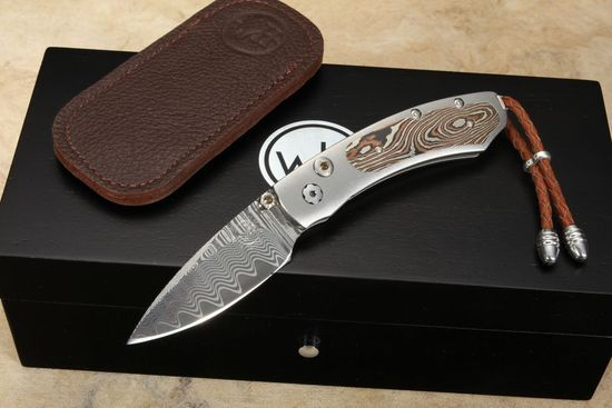 William Henry B09 Feisty- Damascus & Mokume Folding Knife