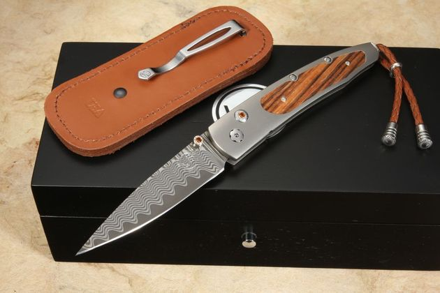 William Henry B10 Stripe Damascus Folding Knife