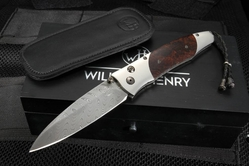 William Henry B30 Outback Gentac - Ironwood and Boomerang Damascus Folding Knife