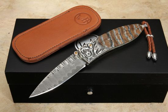 William Henry B05 Silver Eagle - Damascus, Silver and Mammoth Tooth