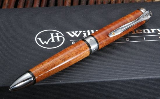 William Henry Curly Koa Wood Twist Pen