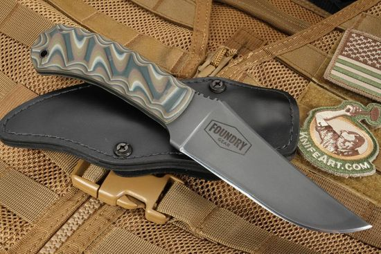 Winkler Belt Knife - Exclusive Special Edition CPM 3V - Sculpted Multi Cam G10