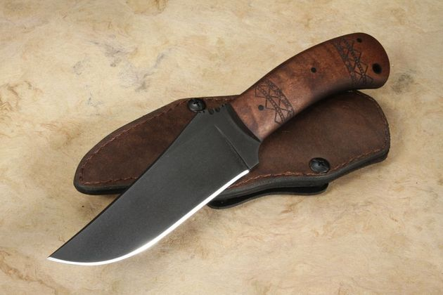 Winkler Belt Knife - Tribal Maple Handle
