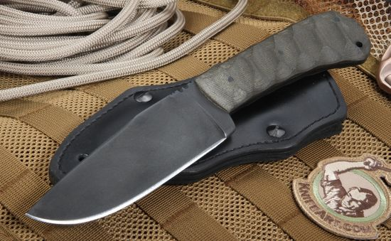 Winkler Hunting Knife - Green Sculpted Micarta