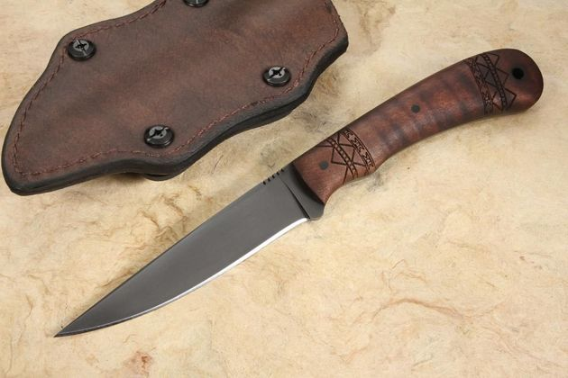 Winkler Operator - Tribal Maple Handle - Brown Leather Sheath