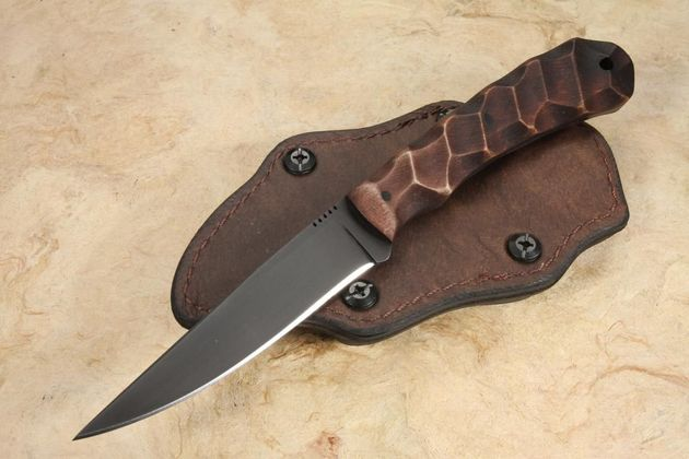 Winkler Operator - Sculpted Maple Handle - Brown Leather Sheath