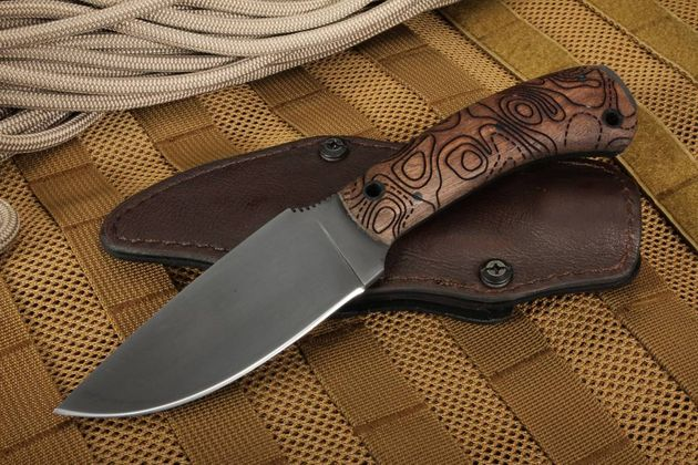 Winkler Knives Woodsman Topo Etch Walnut