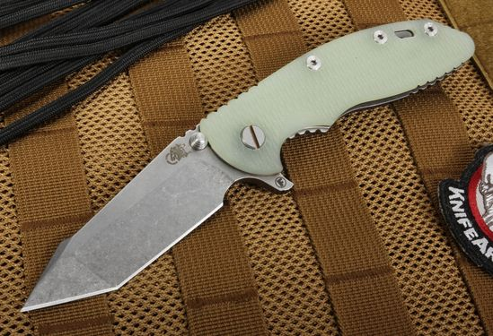"Hinderer Knives XM-18 3.5"" FATTY Edition Translucent Harpoon Flipper"