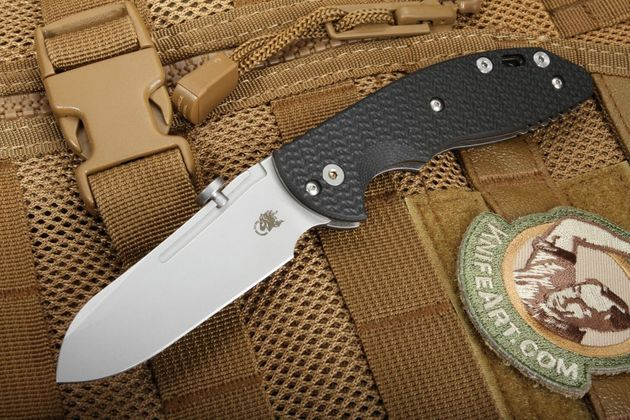 "Hinderer XM Slippy 3"" Sheepsfoot Blade Slipjoint Knife - Black G-10"