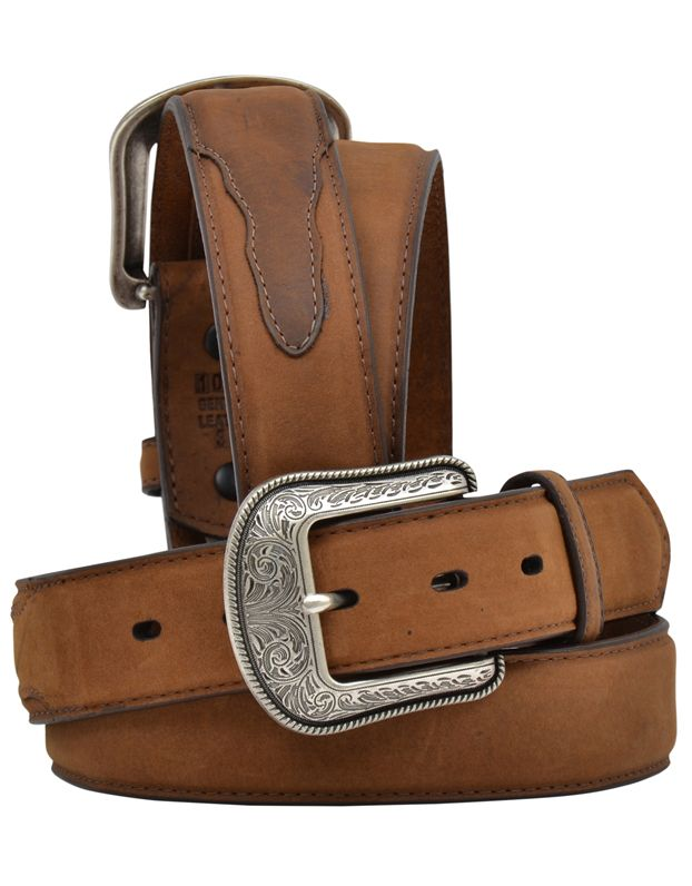 3D Western Mens Belt Leather Made In The USA Single Ply Brown 1162