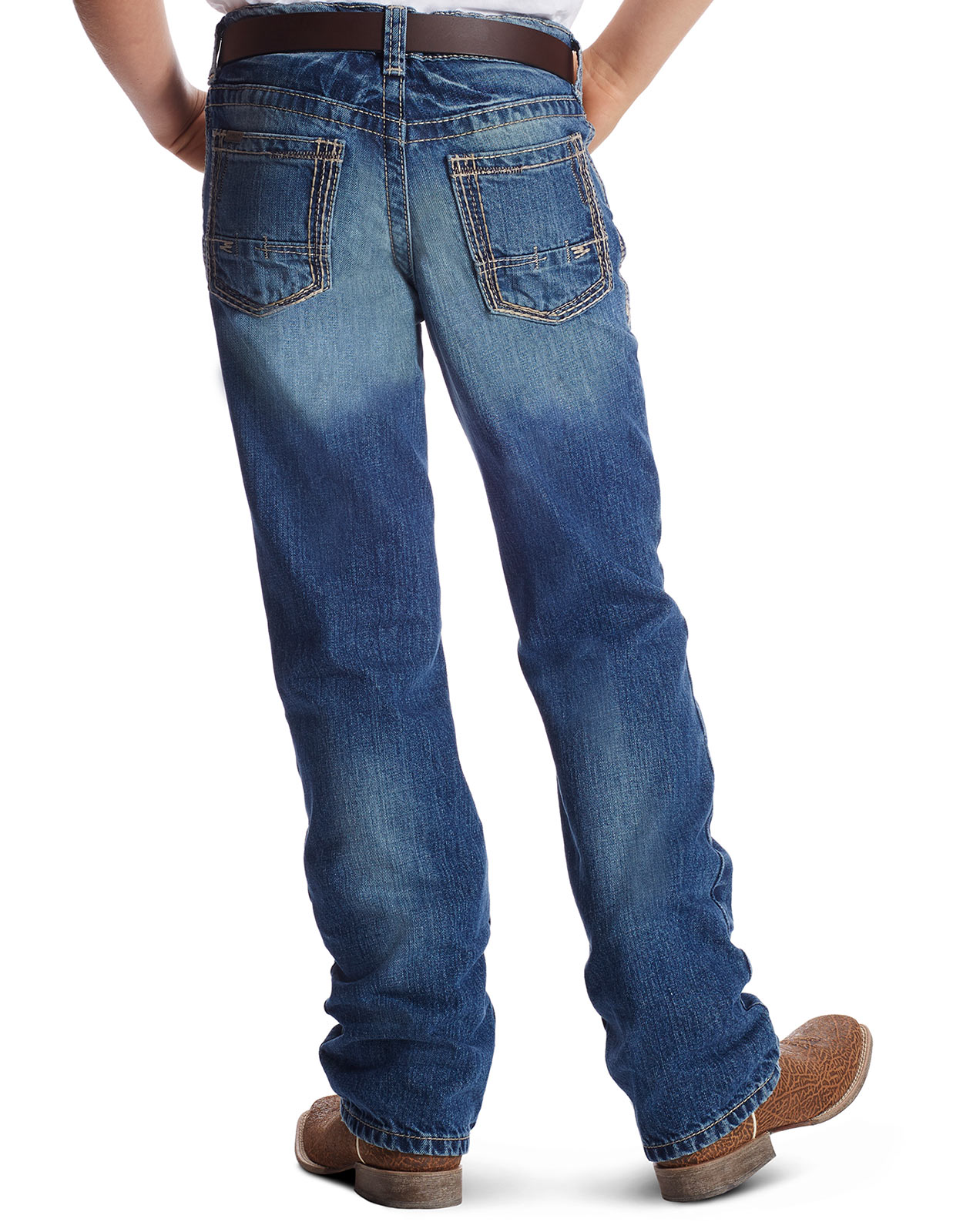Ariat Boy's B4 Low Rise Relaxed Fit Boot Cut Jeans - Dakota
