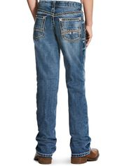 Ariat Boy's B4 Low Rise Relaxed Fit Boot Cut Jeans - Durango