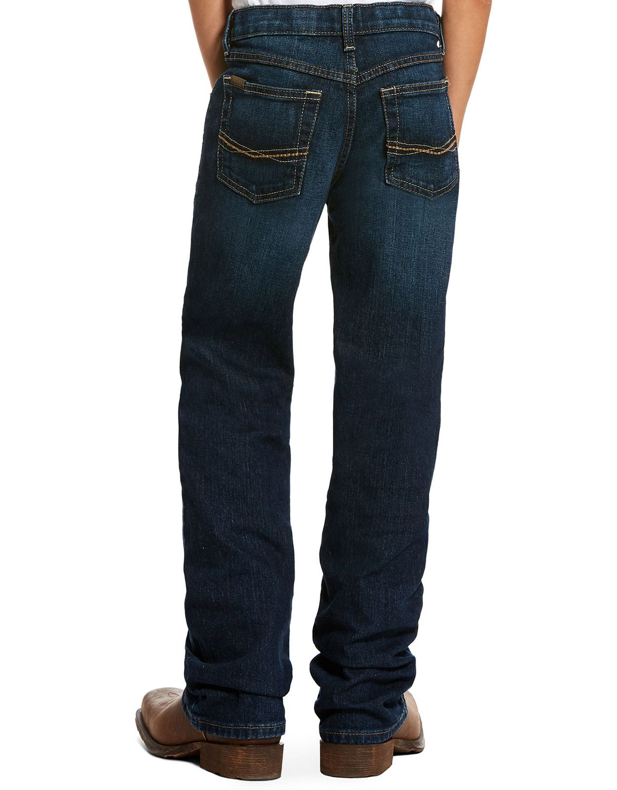 Ariat Boy's B4 Relaxed Boot Cut Legacy Stretch Low Rise Relaxed Fit Boot Cut Jeans - Chief