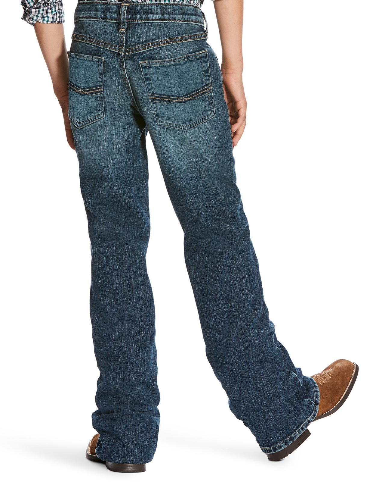 Ariat Boy's B4 Stretch Low Rise Relaxed Fit Boot Cut Jeans - Kilroy