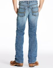 Ariat Boy's B4 Stretch Low Rise Relaxed Fit Boot Cut Jeans - Medium Vintage (Closeout)