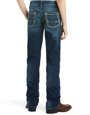 Ariat Boy's B5 Low Rise Slim Fit Straight Leg Jeans - Cyclone