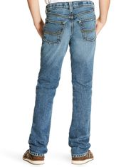 Ariat Boy's B5 Stretch Low Rise Slim Fit Straight Leg Jeans - Drifter