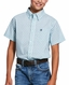 Ariat Boy's Casual Series Classic Fit Short Sleeve Print Button Down Shirt - Soothing Sea