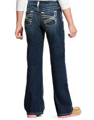 Ariat Girl's R.E.A.L. Boot Cut Stretch Low Rise Slim Fit Boot Cut Jeans - Dresden