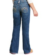 Ariat Girl's R.E.A.L. Boot Cut Stretch Mid Rise Slim Fit Boot Cut Jeans - Eleanor