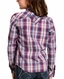 Ariat Girl's REAL Long Sleeve Plaid Snap Shirt - Imperial Violet