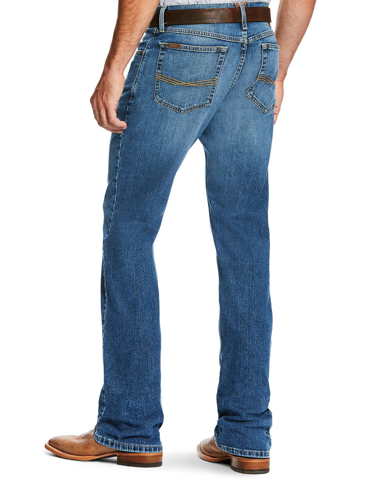 Ariat Men's M2 Legacy Stretch Low Rise Relaxed Fit Stackable Boot Cut Jeans - Brandon