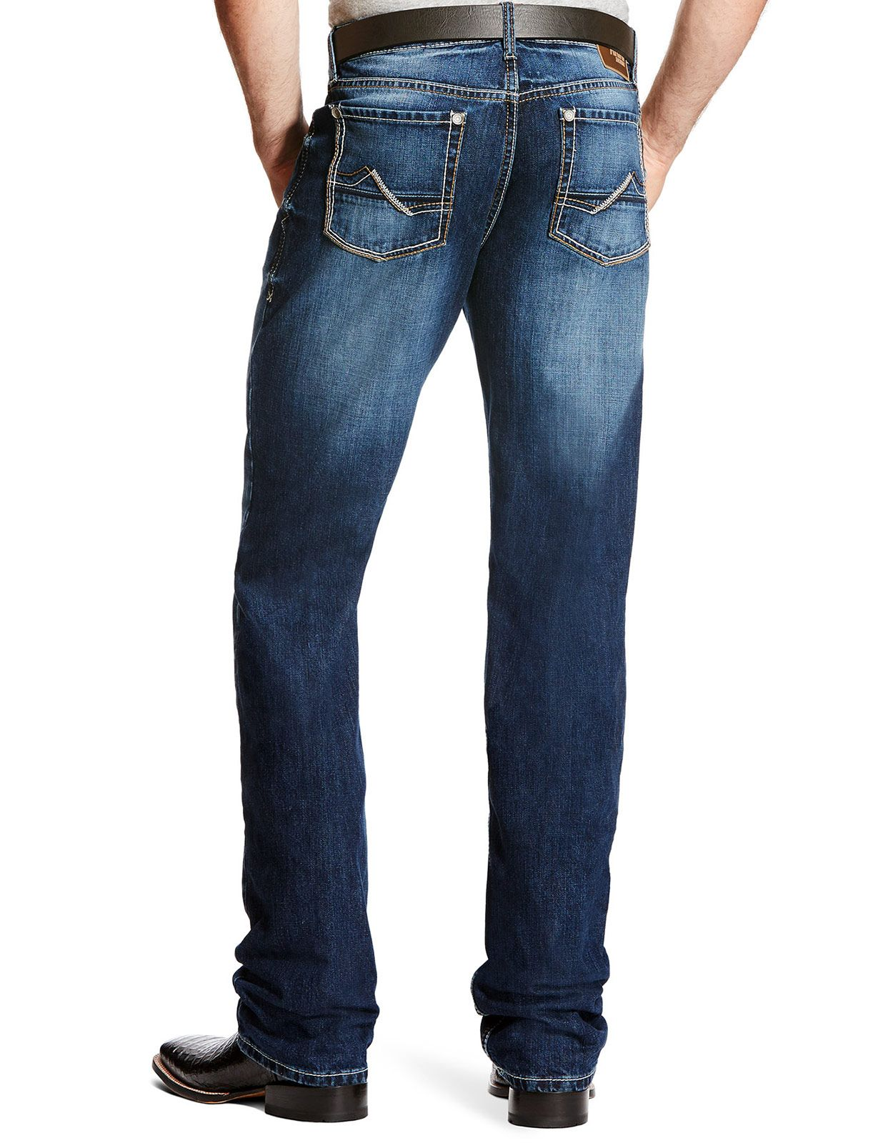 Ariat Men's M2 Relaxed Stackable Boot Cut Stretch Low Rise Relaxed Fit Stackable Boot Cut Jeans - Bayshore