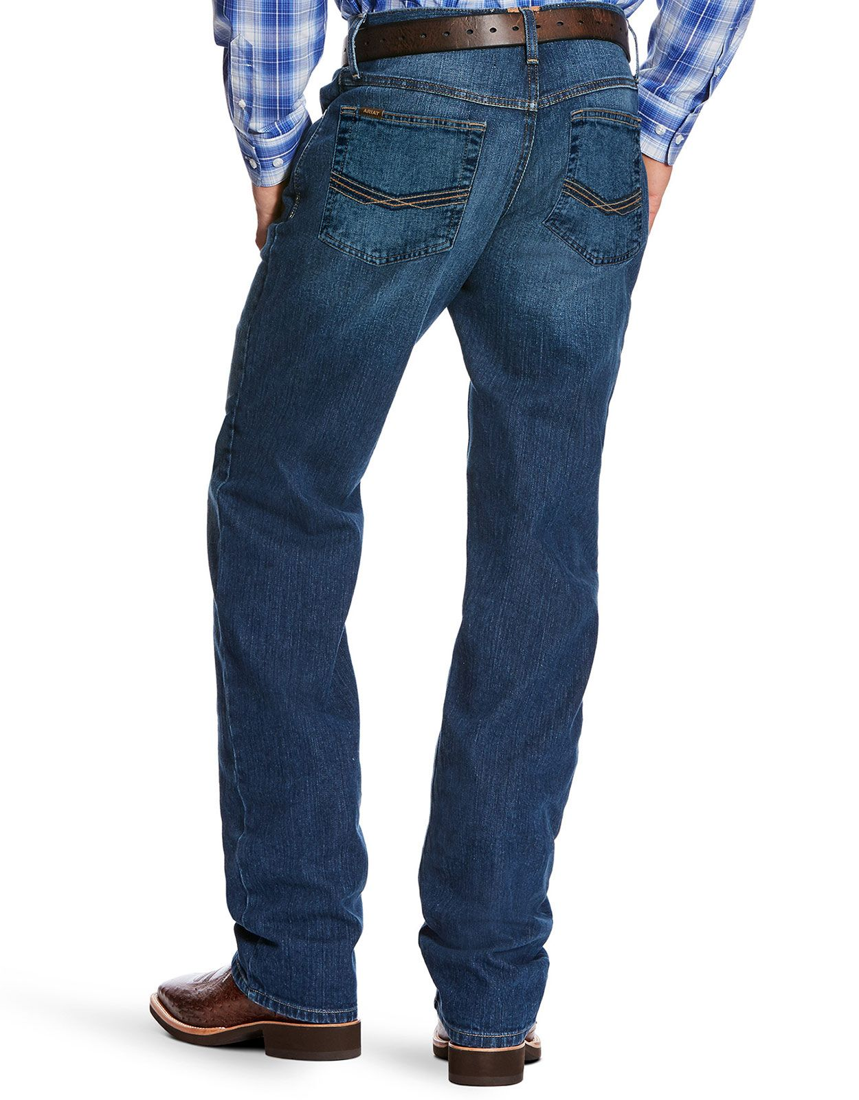 Ariat Men's M3 Legacy Stretch Low Rise Loose Fit Stackable Straight Leg Jeans - Marshall