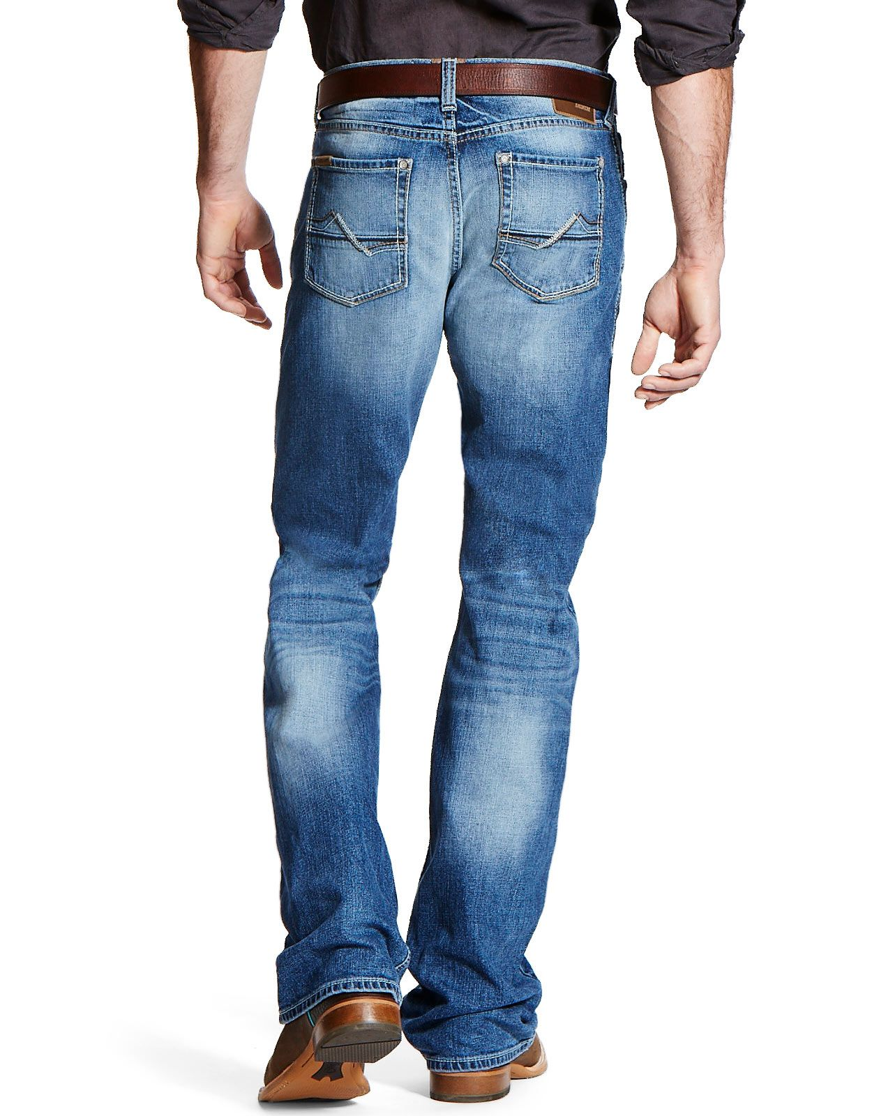 Ariat Men's M4 Stretch Low Rise Relaxed Boot Cut Jeans - Fargo