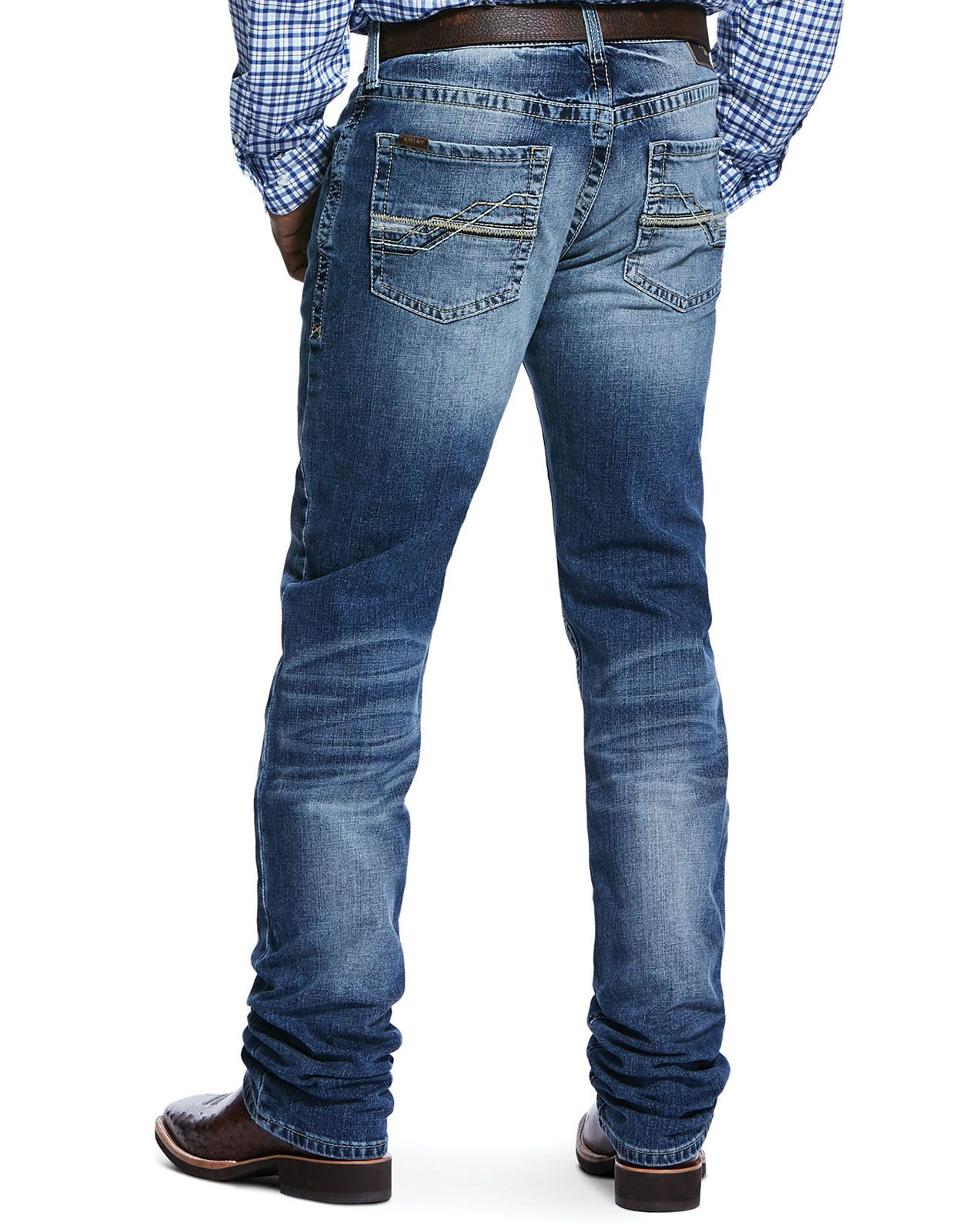 Ariat Men's M4 Stretch Low Rise Relaxed Fit Stackable Straight Leg Jeans - Dakota