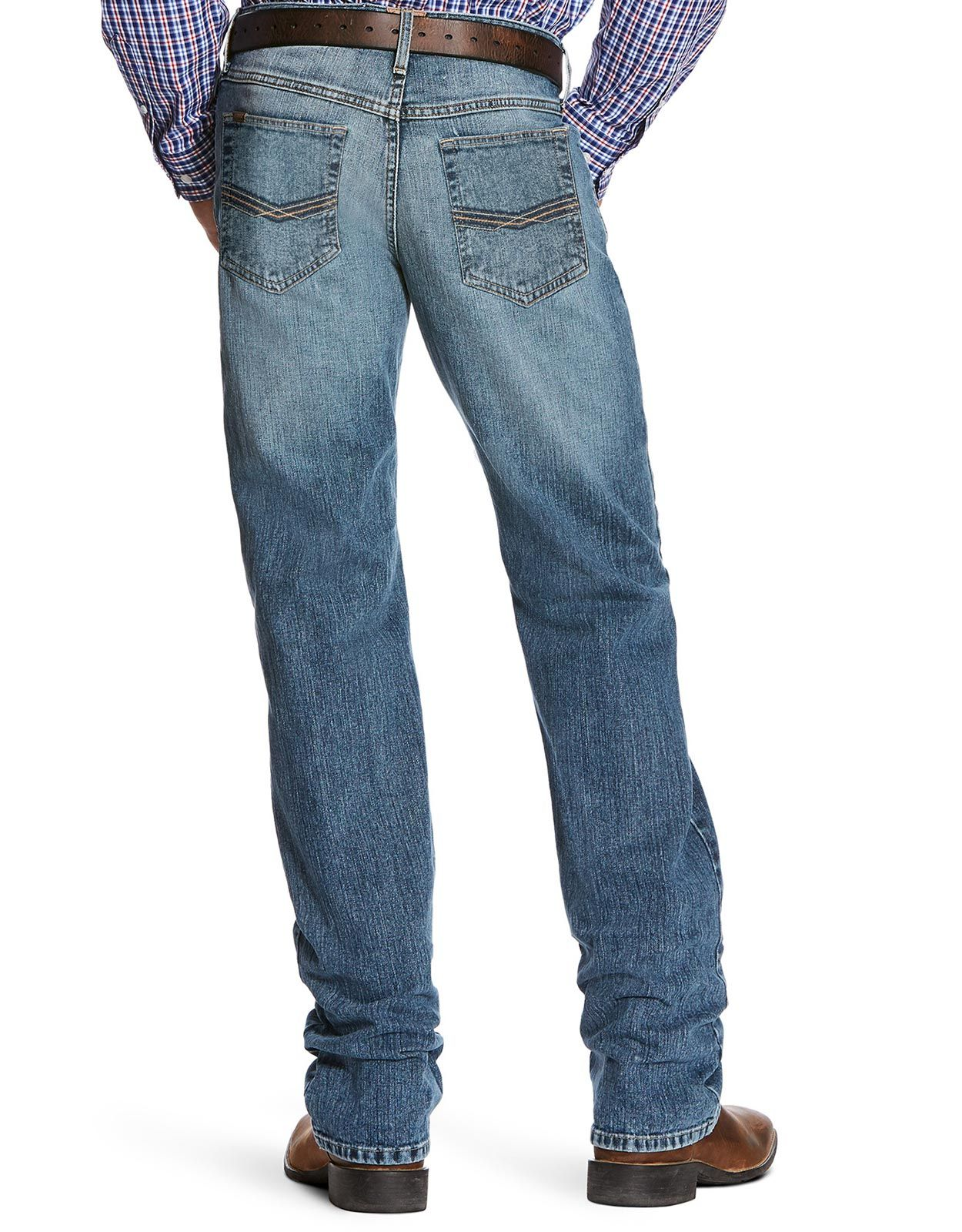 Ariat Men's M5 Legacy Stretch Low Rise Slim Fit Stackable Straight Leg Jeans - Drifter