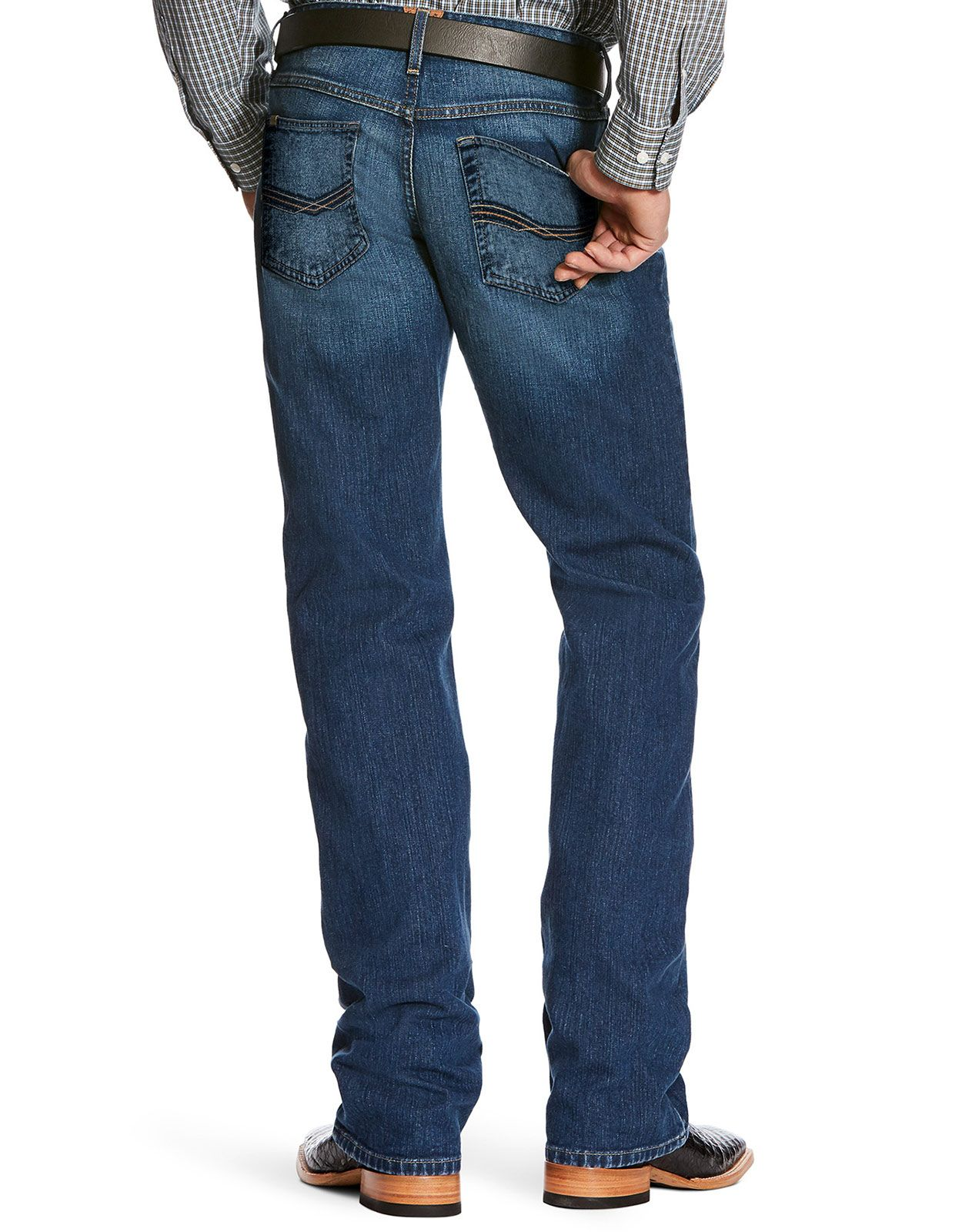 Ariat Men's M5 Legacy Stretch Low Rise Slim Fit Stackable Straight Leg Jeans - Marshall
